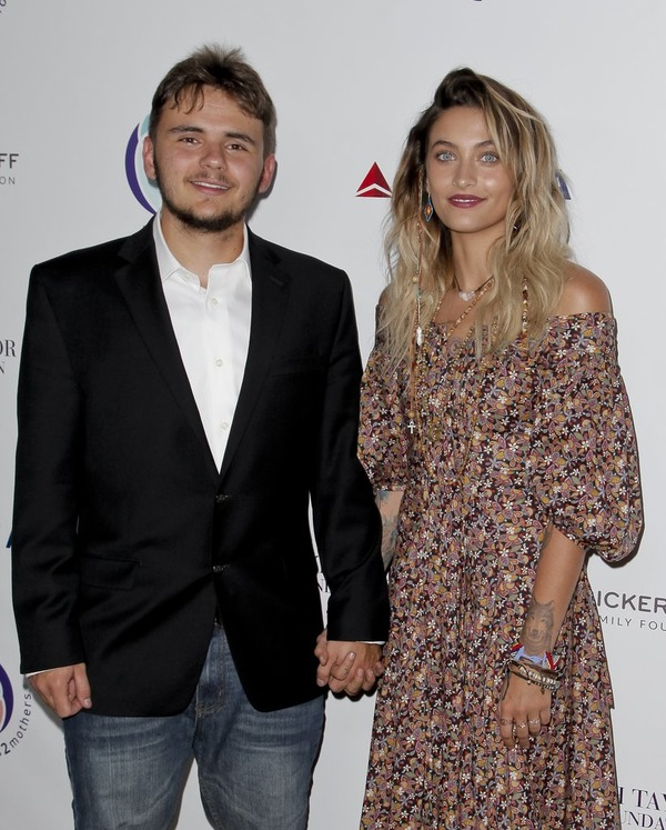 Prince Jackson with his sister Paris
