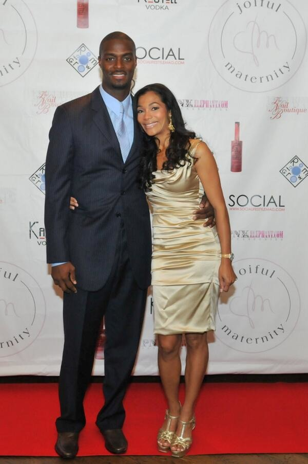 Plaxico Burress and his wife Tiffany Glenn