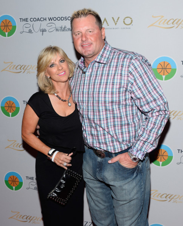 Roger Clemens and his wife Debbie