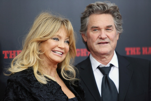 "Kurt Russell with his ""girlfriend of many years"" Goldie Hawn"