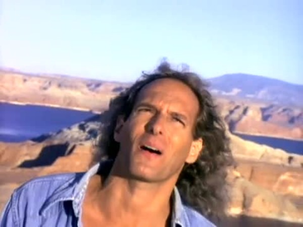 """Michael Bolton in """"Said I Loved You...But I Lied"""" music video"""