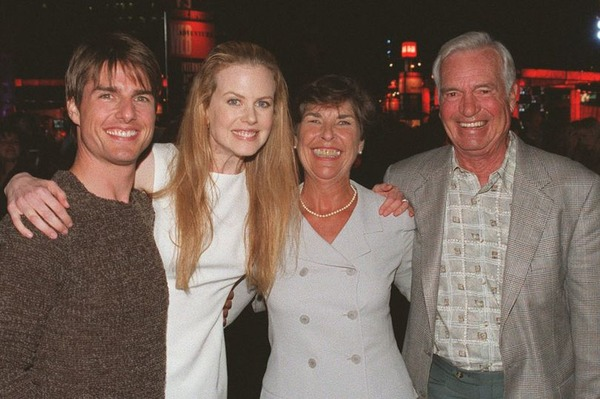 Tom Cruise, his ex-wife Nicole Kidman, his mother and stepfather Joseph South