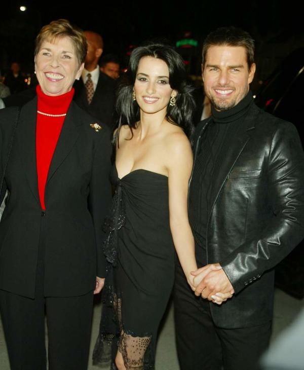 Tom Cruise with his ex-girlfriend Penelope Cruz