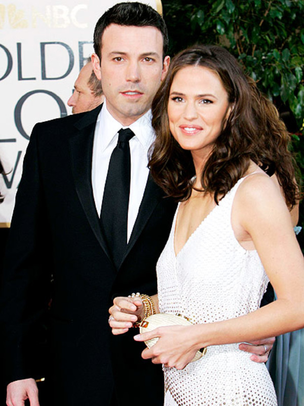 Ben Affleck with his ex-wife and mother of his kids Jennifer Garner