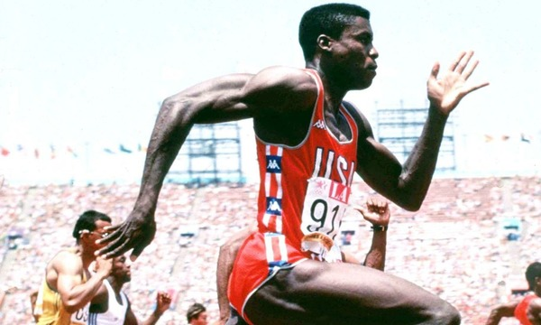 Carl Lewis as a talented sprinter and jumper