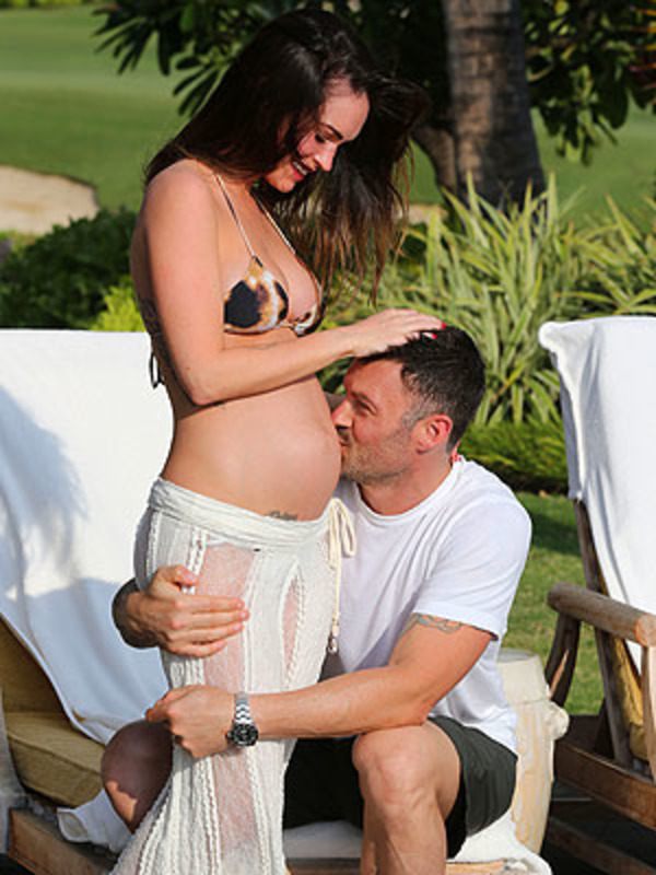 Brian Green with pregnant Megan Fox