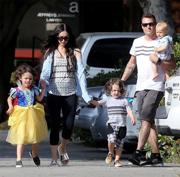 Megan Fox and Brian Green with their three sons
