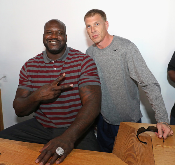 Jason Williams with his friend Shaquille O'Neal