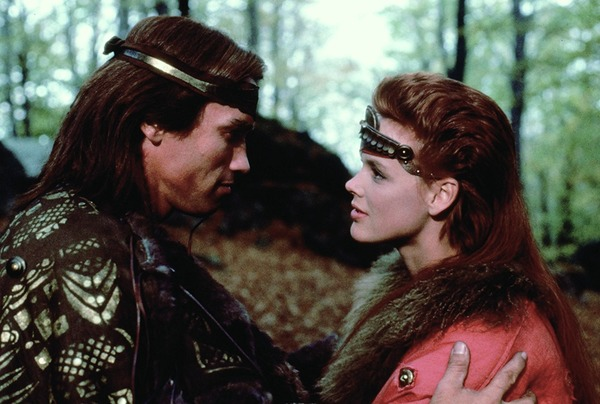 Arnold Schwarzenegger and Brigitte Nielsen in Red Sonja
