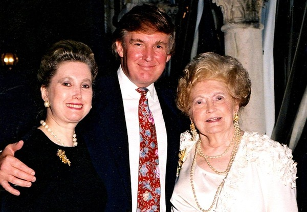 Donald Trump with his sister, American banker, Elizabeth Trump Grau and their mother Mary Trump