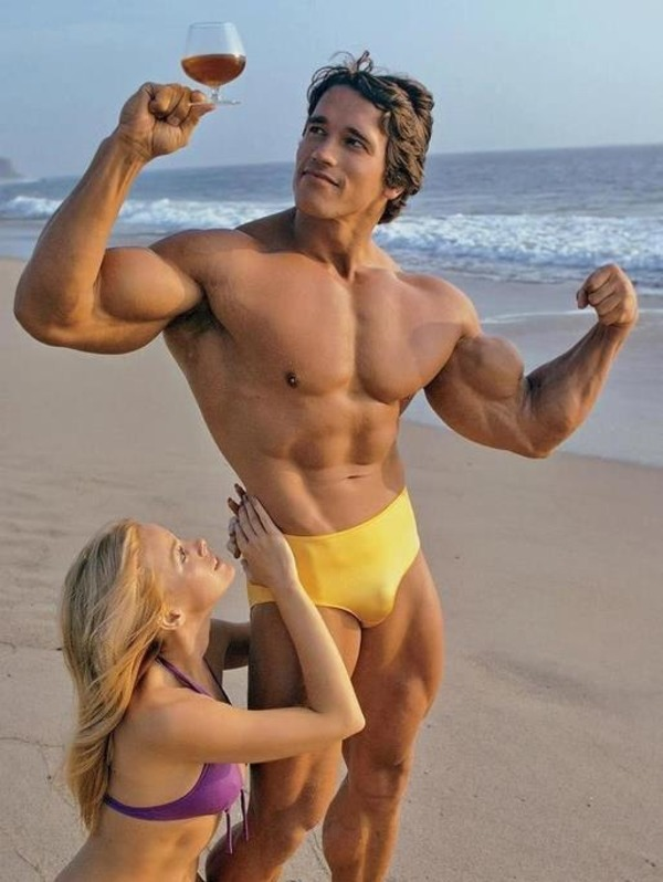 Arnold Schwarzenegger is a self-made celebrity, who got money, muscles and fame