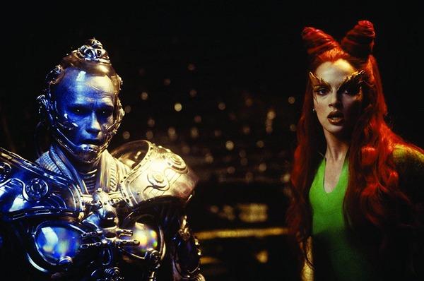 Arnold Schwarzenegger and Uma Thurman in Batman & Robin