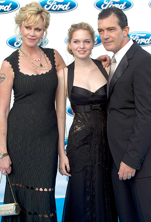Antonio Banderas, Melanie Griffith and their daughter Stella