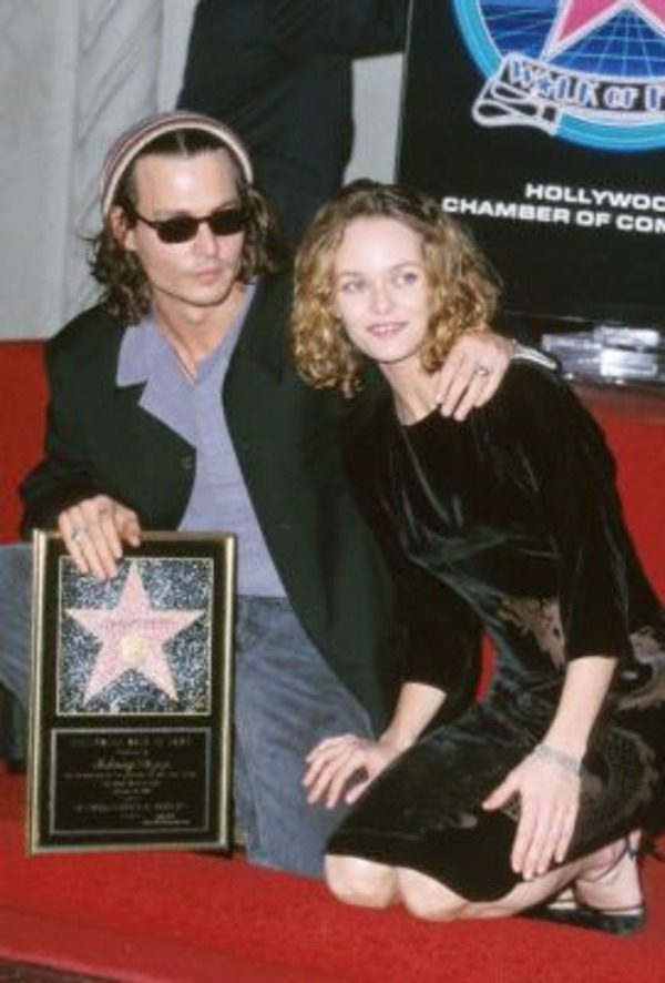 Vanessa Paradis accompanied Johnny Depp, when he got a star at Hollywood Walk of Fame