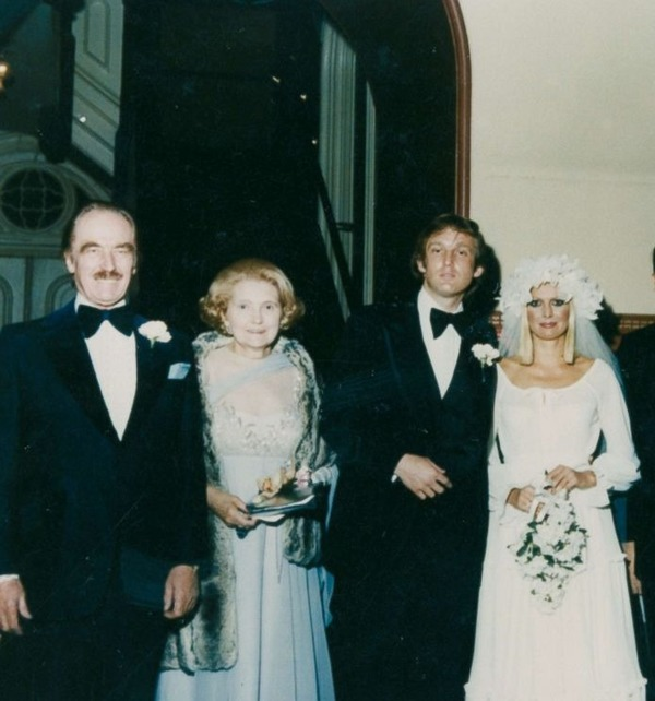 Donald Trump parents at his wedding to Ivana