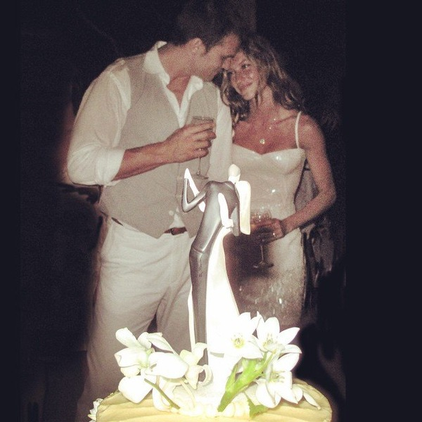 Tom Brady and Gisele Bündchen at their private wedding