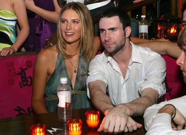 Adam Levine previously dated Maria Sharapova