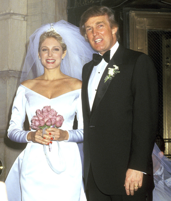 Marla Maples wedded Donald Trump after birth of their daughter