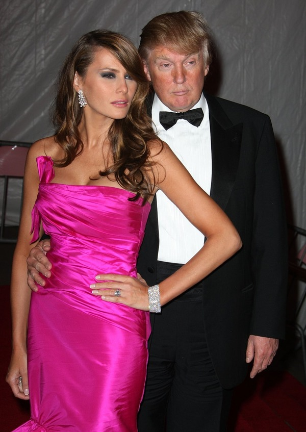 Melania Trump changed her status of a supermodel for the First Lady (with her husband Donald Trump)