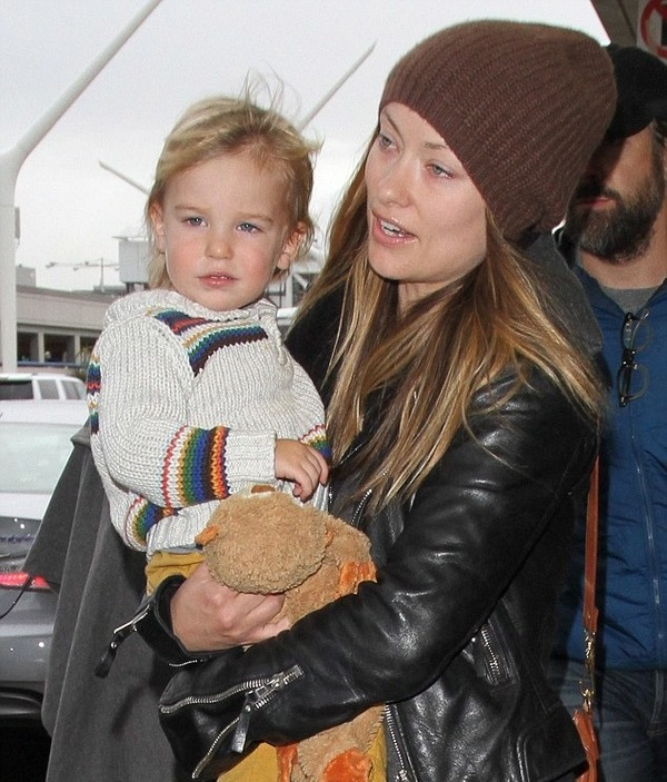 Olivia Wilde with her son Otis Alexander Sudeikis