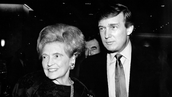 Mary Anne Trump with her son Donald