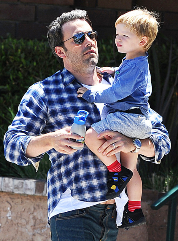 Ben Affleck showed his son Sam in public on the Independance Day for the first time