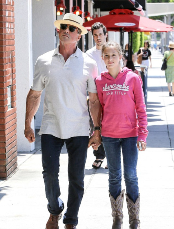 Sylvester Stallone with his daughter Scarlet