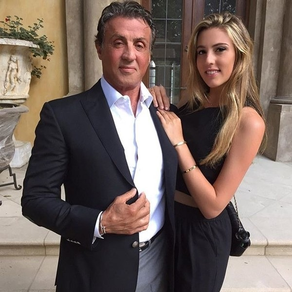 Sly Stallone and his daughter Sophia Stallone