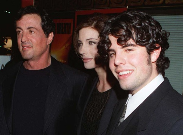 Sylvester Stallone, Jennifer Flavin, and Stallone's son Sage