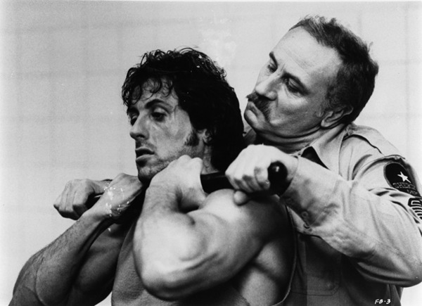 Sylvester Stallone and Jack Starrett in First Blood