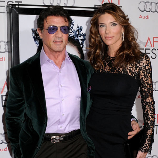 Sylvester Stallone with his current wife Jennifer Flavin