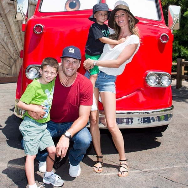 Gisele Bündchen, Tom Brady and their kids
