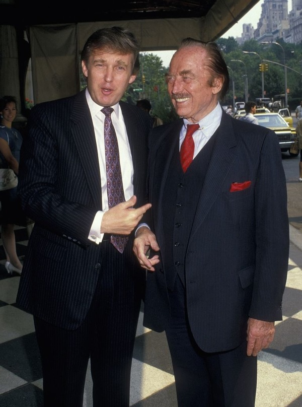 Donald Trump with his father Fred