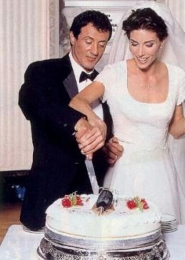 Sylvester Stallone and Jennifer Flavin wedding