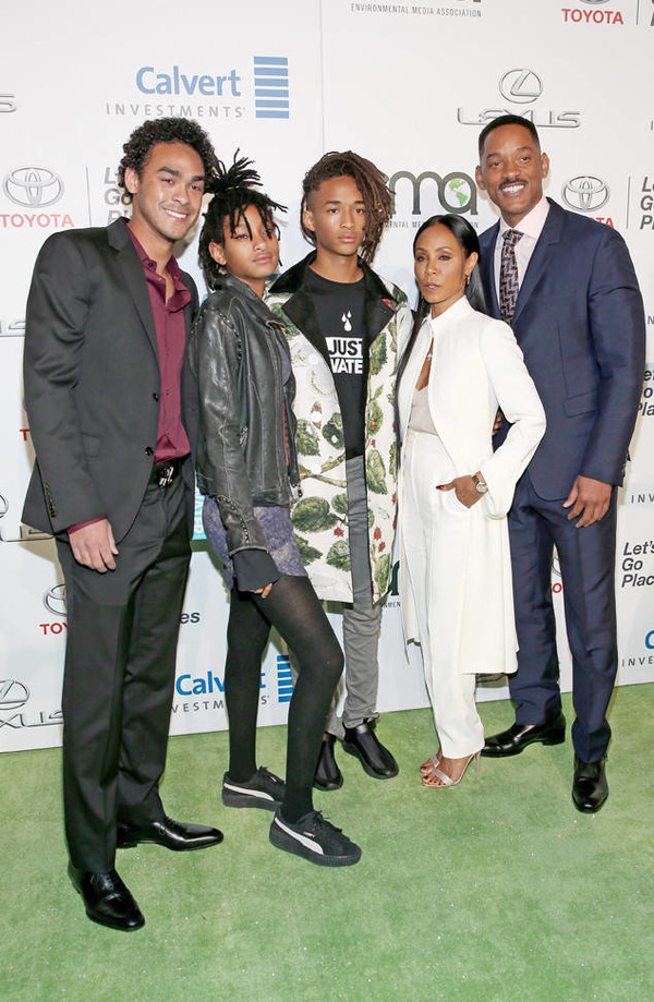 Will Smith can be proud of his family: with Jada, Trey, Jaden and Willow