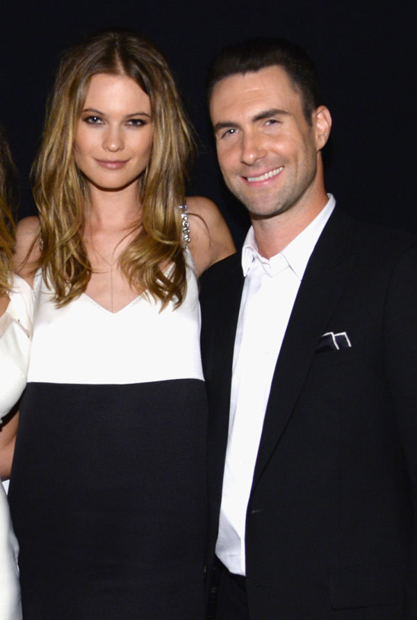 Adam Levine and his beautiful wife Behati Prinsloo