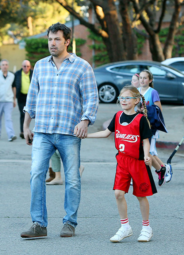 Ben Affleck with his daughter Violet