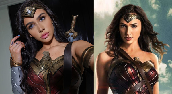 Carli Bybel recreated Gal Gadot-Wonder Woman look