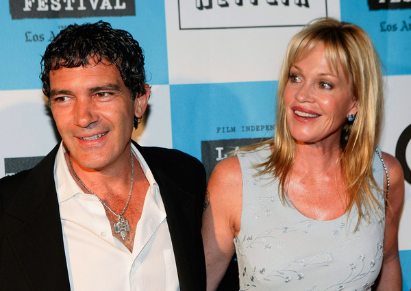 Antonio Banderas and his second wife Melanie Griffith