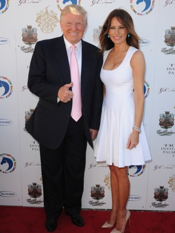 Melania Trump and her husband Donald Trump