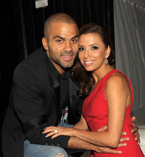 Eva Longoria with her second husband Tony Parker