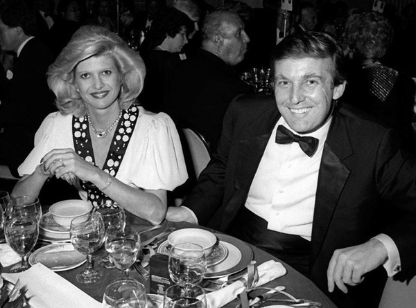 Trump and Ivana at a dinner