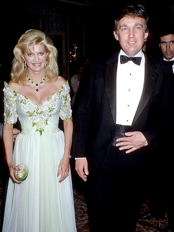 First Donald Trump wife Ivana wore strapless dresses and bouffants