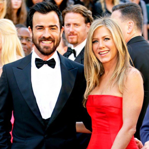 Justin Theroux and Jennifer Aniston look really happy!