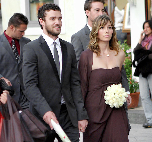 Justin Timberlake and Jessica Biel wedded in 2012