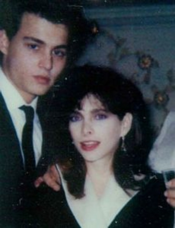 Young Johnny Depp with his first wife Lori Anne Allison
