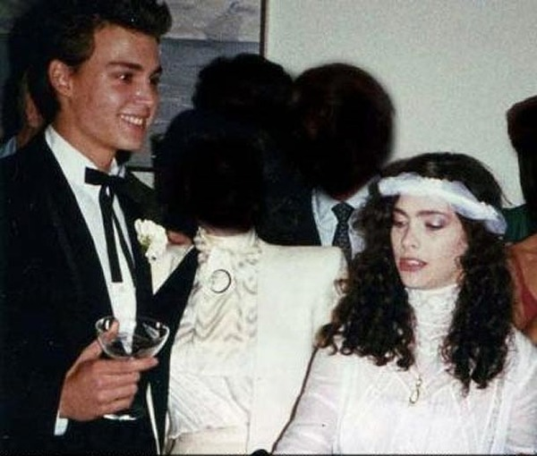 Lori Anne Allison and Johnny Depp wedding