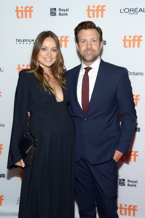 Jason Sudeikis with pregnant Olivia Wilde