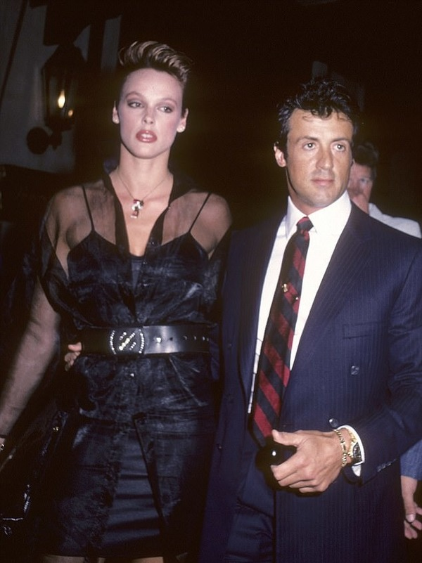 Brigitte Nielsen said, Sly Stallone was crazy from her