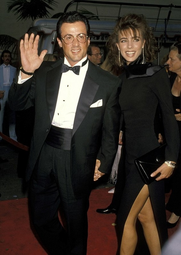 Sylvester Stallone with young Jennifer Flavin